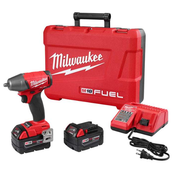 Milwaukee 2754-22 M18 FUEL 18V 3/8-Inch Compact Impact Wrench w/ Batteries