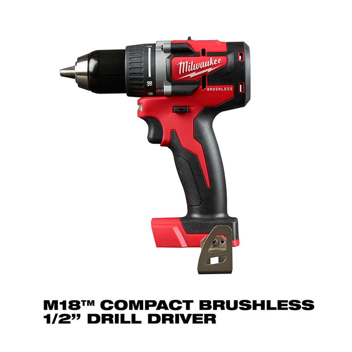 Milwaukee 2892-22CTPO 18-Volt 2-Tool Cordless Lithium-Ion Packout Combo Kit