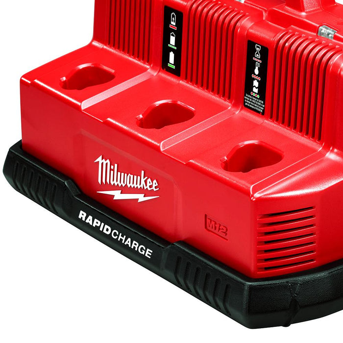 Milwaukee 48-59-1807 M12/M18 12/18V 6-Port Rapid Charge Station
