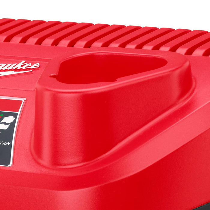 Milwaukee 48-59-2401 M12 12V Lithium-Ion Red Slim Battery Charger