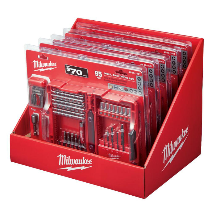 Milwaukee 48-89-1561 Premium S2 Steel Magnetic Drive Driver Bit Set - 95pc