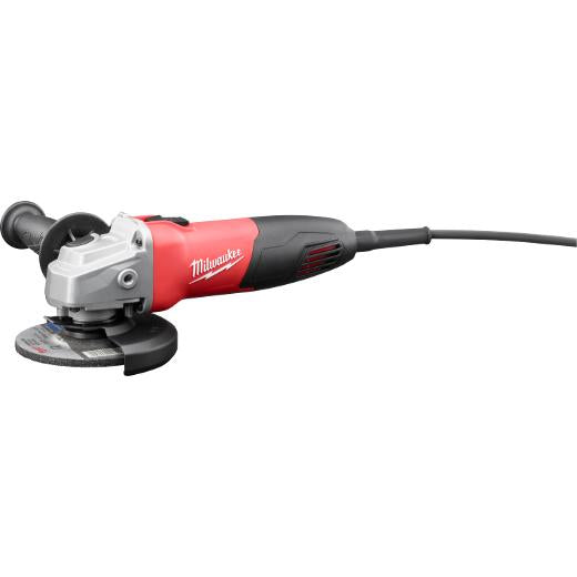 "Milwaukee 6130-33 120V AC 7 Amp 4-1/2"" Small Angle Grinder with Spanner Wrench"