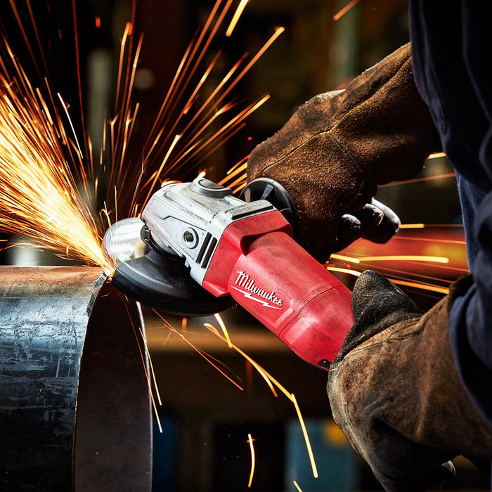 Milwaukee 6142-31S 4-1/2-Inch Electric Small Angle Grinder w/ Dust Shroud