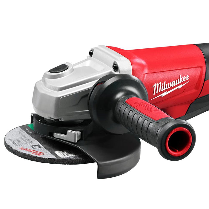 Milwaukee 6161-30 120V AC 13 Amp 6-Inch Small Angle Grinder Paddle Lock-On
