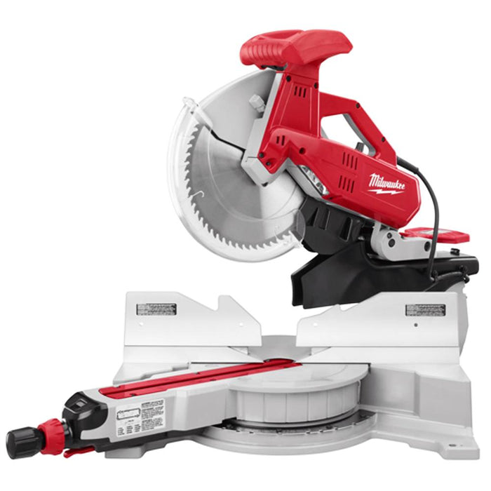 "Milwaukee 6955-20 120V AC 12"" Dual-Bevel Sliding Compound Miter Saw with Blade"
