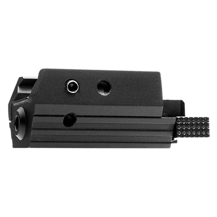 NcStar AAPRLS Aluminum Accessory Rail Mounting Tactical Red Pistol Laser, Black