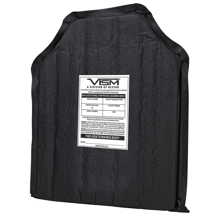 NcStar BSC1012 10-Inch x 12-Inch VISM Soft Ballistic Panel, Shooters Cut