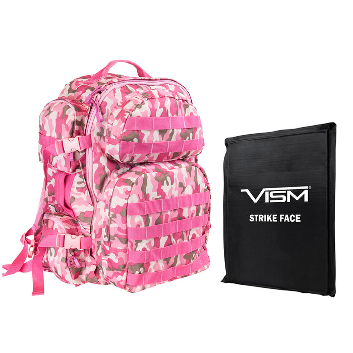 NcStar BSCBPC2911-A Soft Ballistic Panel and Tactical Backpack Combo, Pink Camo