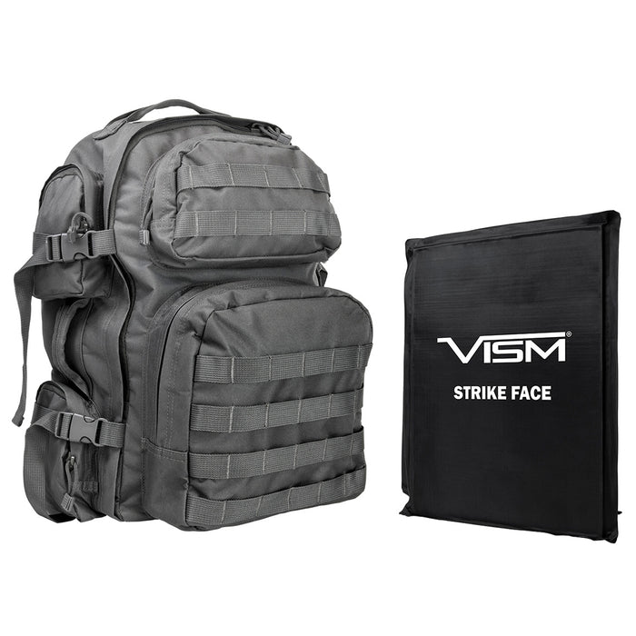 NcStar BSCBU2911-A Soft Ballistic Panel and Tactical Backpack Combo, Urban Gray