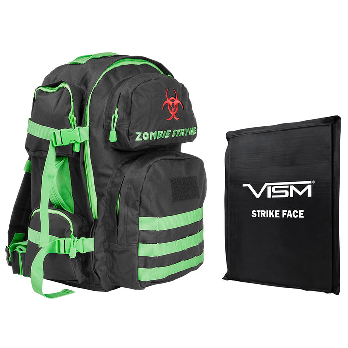 NcStar BSCBZ2911-A Ballistic Panel and Tactical Backpack Combo, Zombie Green