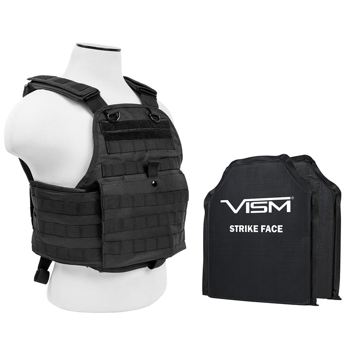 NcStar BSCVPCV2924B-A Soft Ballistic Panel and Plate Carrier Combo, Black