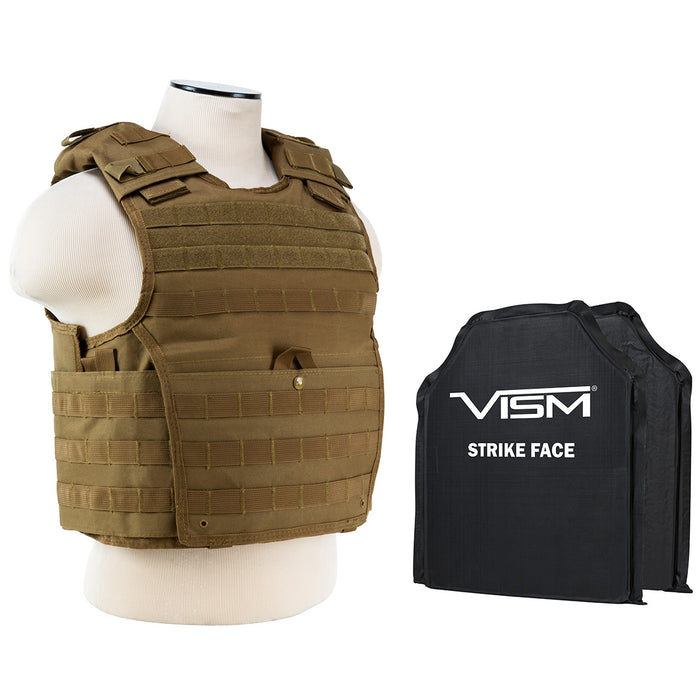 NcStar BSCVPCVX2963T-A Soft Ballistic Panel and Expert Plate Carrier, Tan