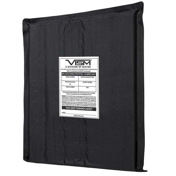 NcStar BSF1012 10-Inch x 12-Inch VISM Soft Ballistic Panel, Rectangle Cut