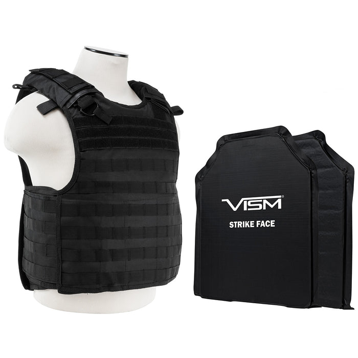 NcStar BSLCVPCVQR2964B-A Soft Ballistic Panel and QR Carrier, Black - Large