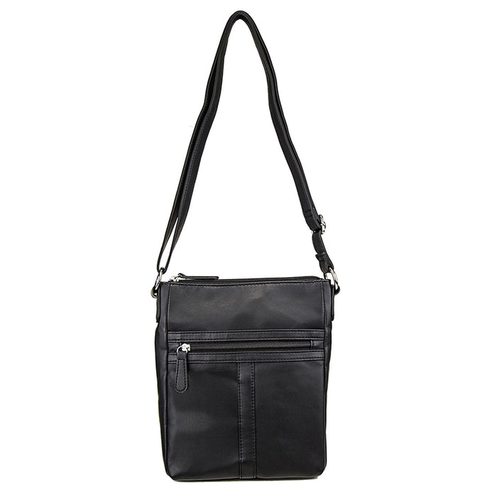 NcStar BWT001 VISM Faux Leather Messenger Crossbody Carrying Bag - Black