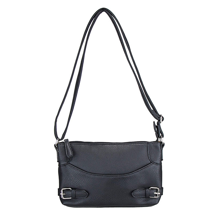NcStar BWU001 VISM Faux Leather Crossbody Carrying Purse Bag - Black