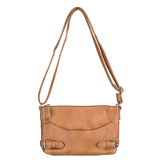 NcStar BWU002 VISM Faux Leather Crossbody Carrying Purse Bag - Brown