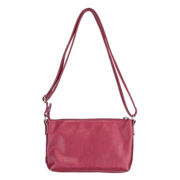 NcStar BWU003 VISM Faux Leather Crossbody Carrying Purse Bag - Red