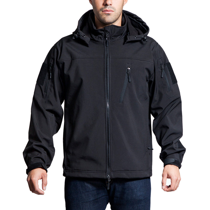 NcStar CAJ2969B2XL Polyester and Fleece Alpha Trekker Jacket - Black, 2XL