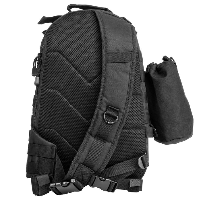 NcStar CBMSB2959 16-Inch x 10-Inch Sling Backpack w/ Bottle Holder, Black