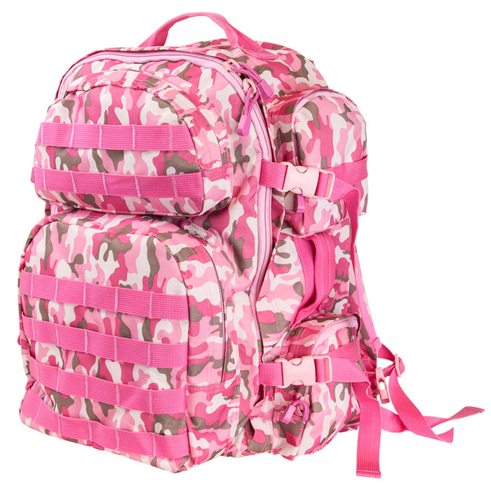 NcStar CBPC2911 18-Inch x 12-Inch MOLLE Tactical Backpack, Pink Camo