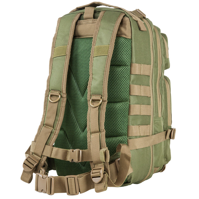 NcStar CBSGT2949 17-Inch x 8.75-Inch Small Backpack, Green w/ Tan Trim