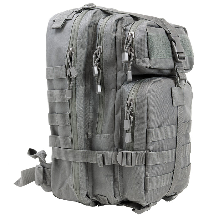 NcStar CBSU2949 17-Inch x 8.75-Inch x 4.5-Inch MOLLE Small Backpack, Urban Gray
