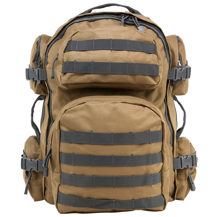 NcStar CBTU2911 18-Inch x 12-Inch Tactical Backpack, Tan w/ Urban Gray Trim