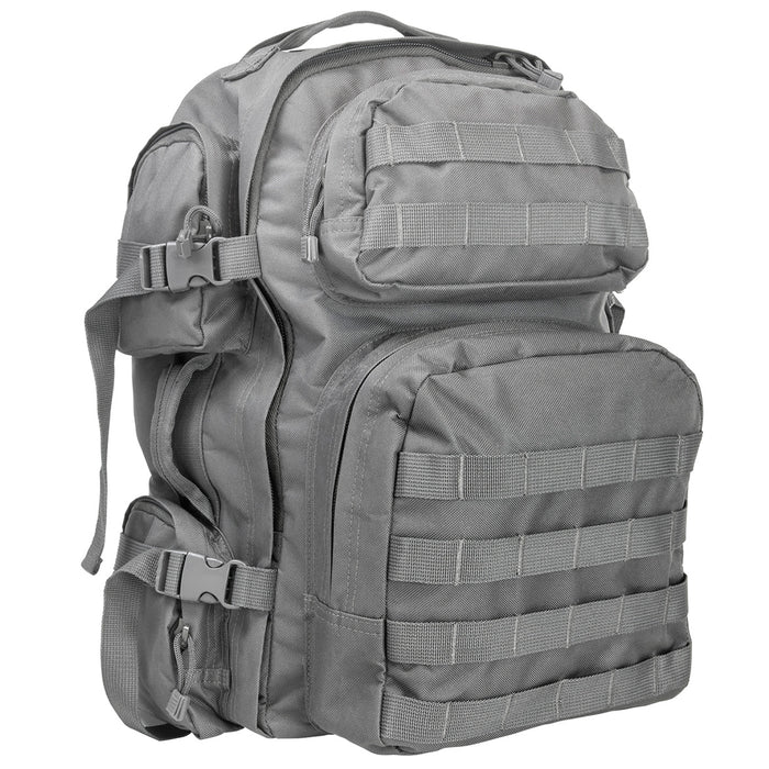 NcStar CBU2911 18-Inch x 12-Inch MOLLE Tactical Backpack, Urban Gray