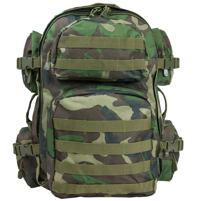 NcStar CBWC2911 18-Inch x 12-Inch Tactical Backpack, Woodland Camo