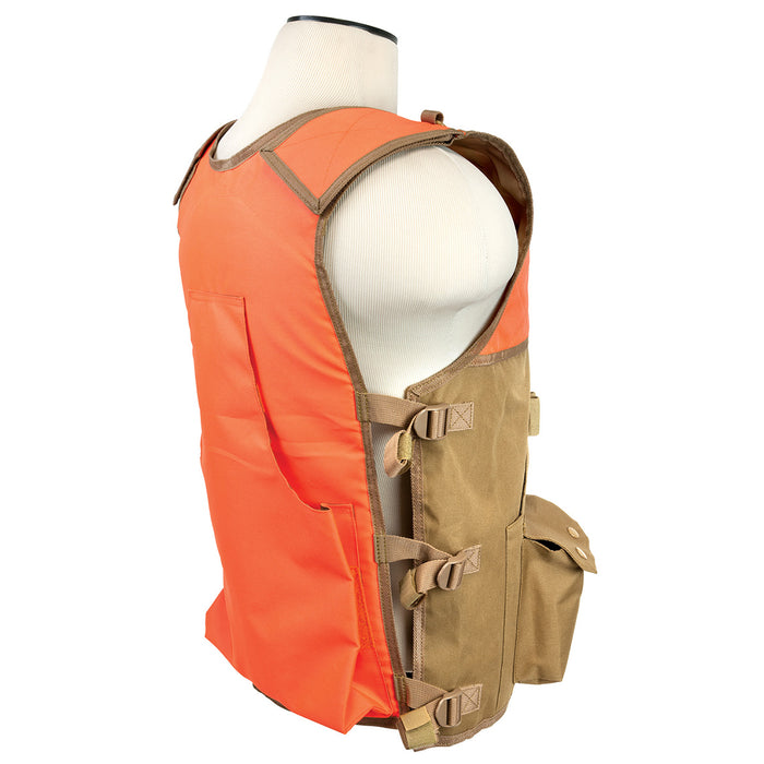 NcStar CHV2942TO VISM Series Durable PVC Hunting Vest, Blaze Orange and Tan