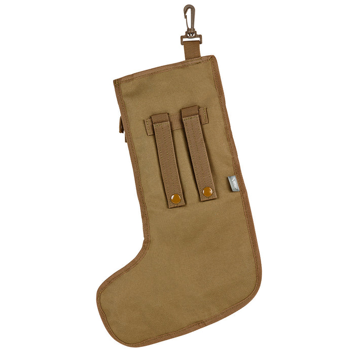NcStar CNSTKG2986T 15-Inch Tactical Christmas Stocking w/ Handle, Tan