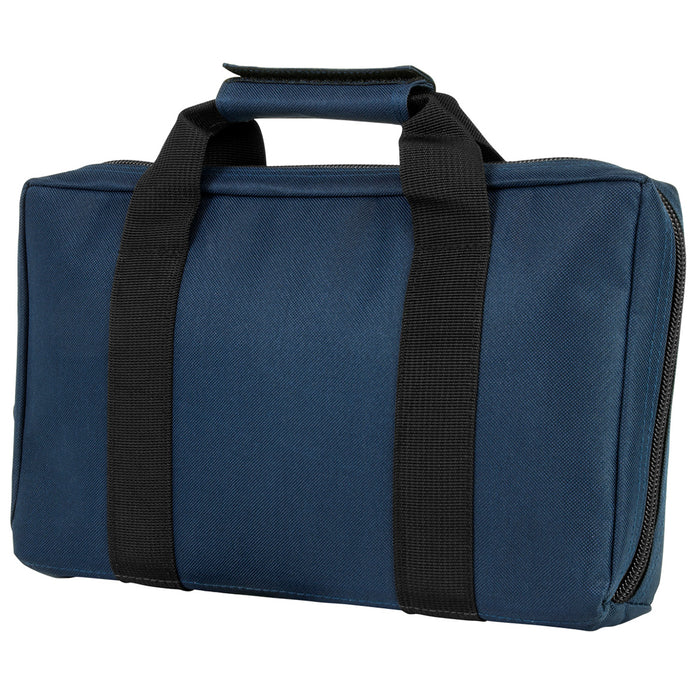 NcStar CPBL2903 VISM Series Padded Discreet Pistol Case, Blue w/ Black Trim