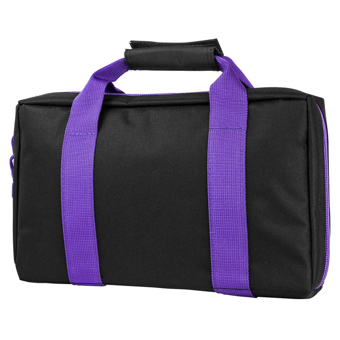 NcStar CPBPR2903 VISM Series Padded Discreet Pistol Case, Black w/ Purple Trim