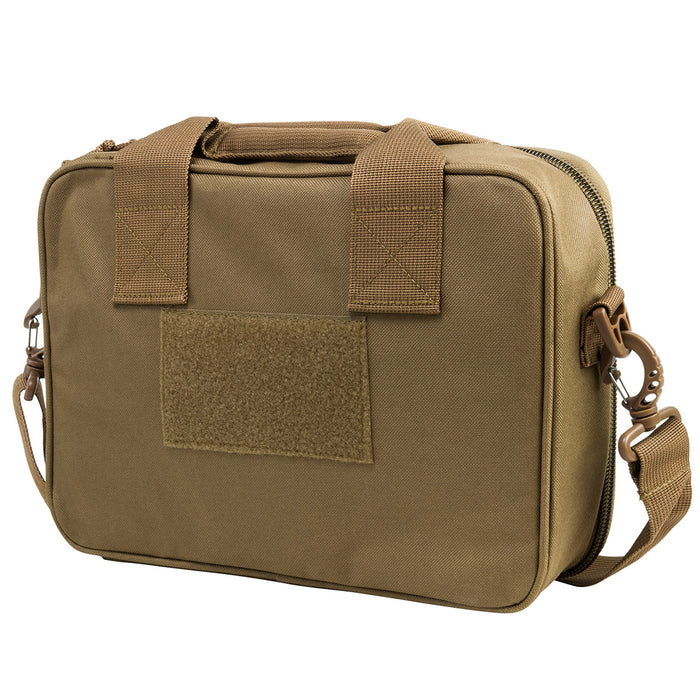NcStar CPDX2971T 13-Inch x 10-Inch VISM Series Double Pistol Range Bag, Tan