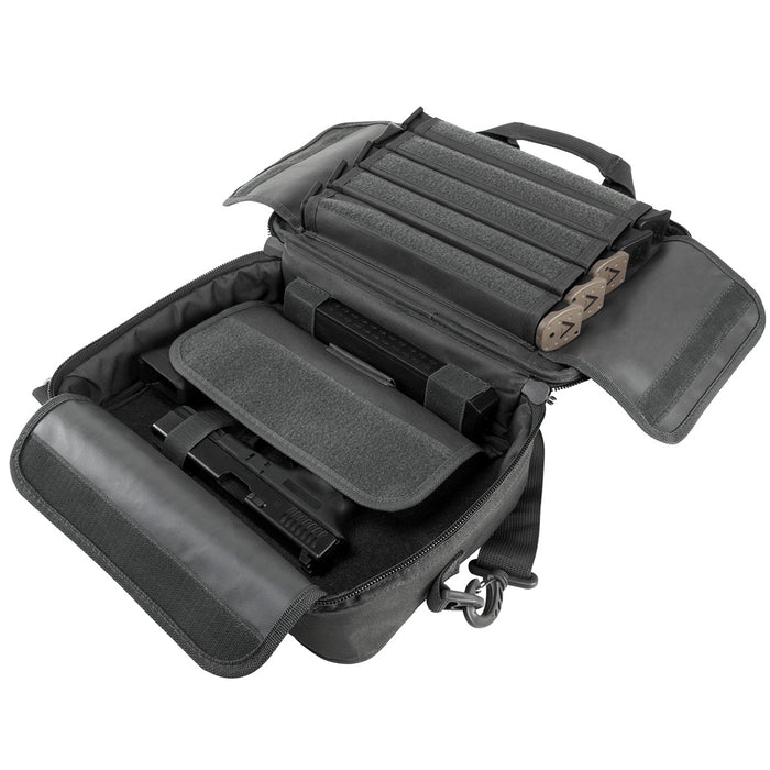 NcStar CPDX2971U 13-Inch x 10-Inch VISM Double Pistol Range Bag, Urban Gray