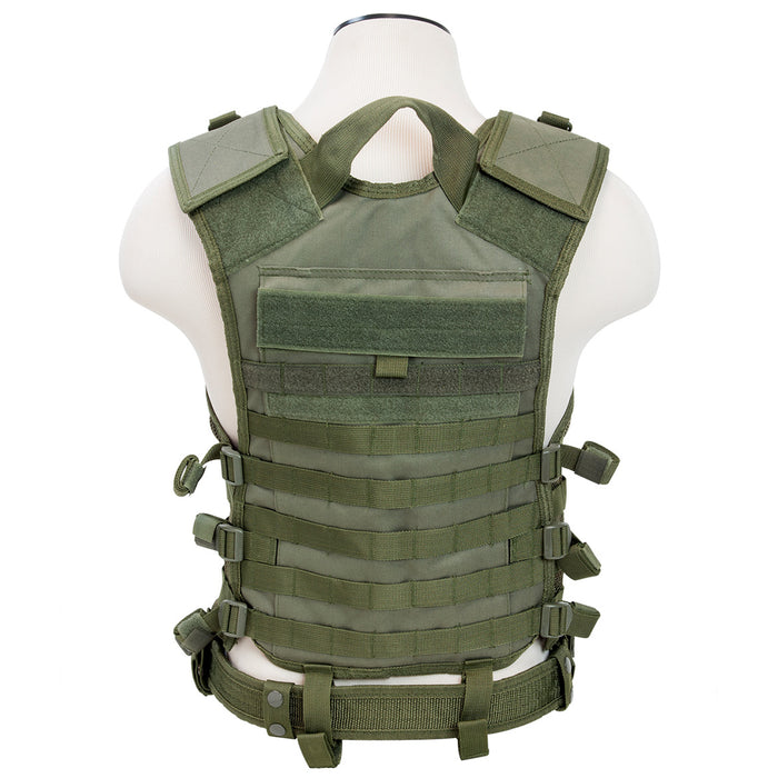 NcStar CPV2915G VISM Series Mesh Lined Pals/Molle Vest, Med-2XL - Green