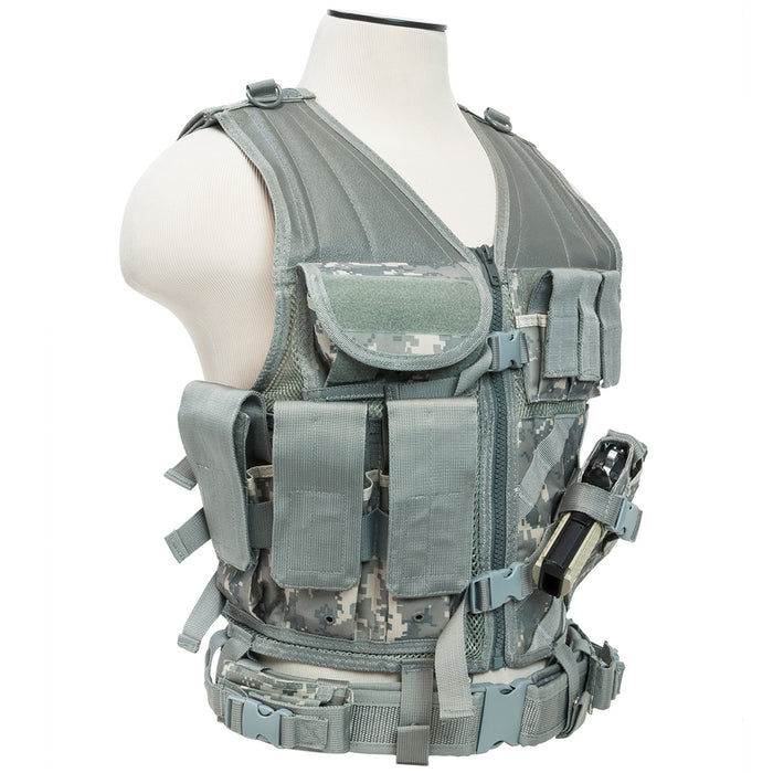 NcStar CTV2916D VISM Fully-Adjustable Tactical Vest, Med-2XL - Digital Camo