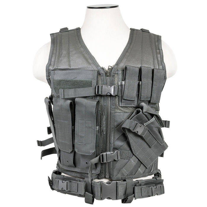 NcStar CTV2916U VISM Series Fully-Adjustable Tactical Vest, Med-2XL - Urban Gray