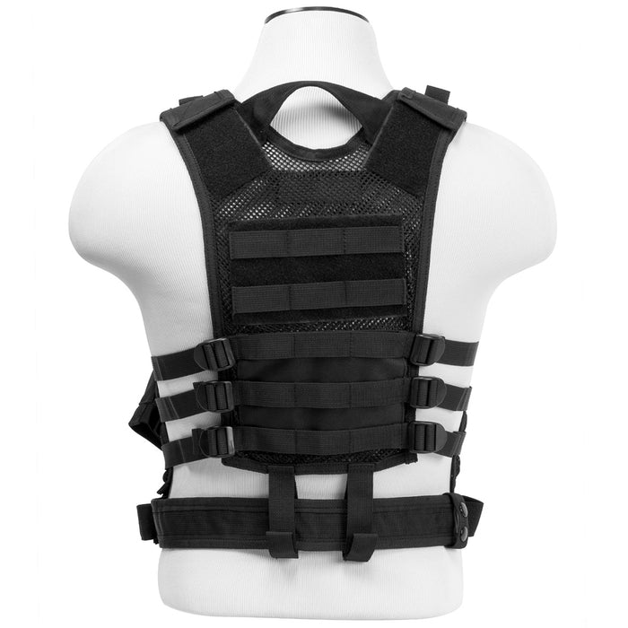NcStar CTVC2916B VISM Series Fully-Adjustable Tactical Vest, XSM-SM - Black