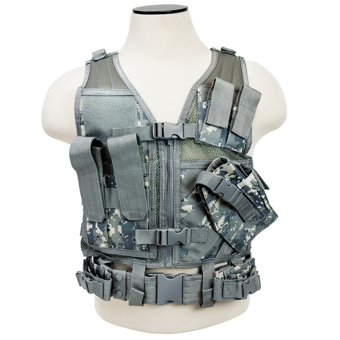 NcStar CTVC2916D VISM Fully-Adjustable Tactical Vest, XSM-SM - Digital Camo