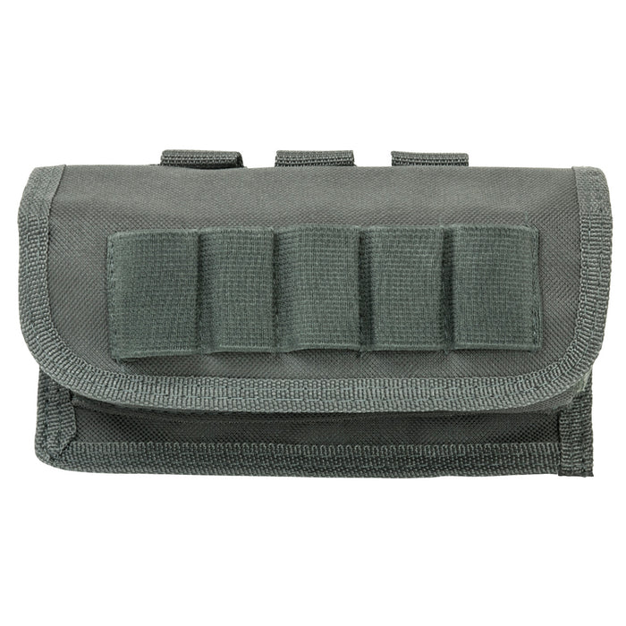 NcStar CV12SHCU 7-Inch 17-Shell Tactical Shot Shell Carrier Pouch, Urban Gray