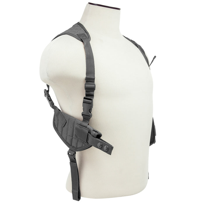 NcStar CV2909U Adjustable Ambidextrous Horizontal Shoulder Holster, Urban Gray