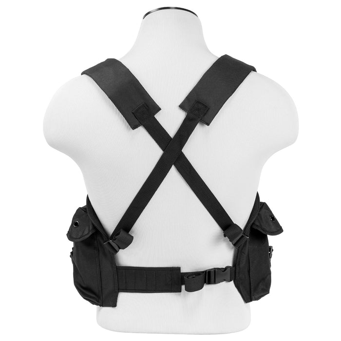 NcStar CVAKCR2921B VISM Series Fully-Adjustable Chest Rig, Black