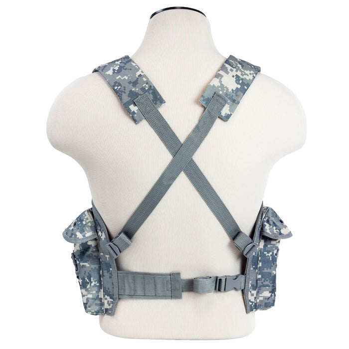 NcStar CVAKCR2921D VISM Series Fully-Adjustable Chest Rig, Digital Camo
