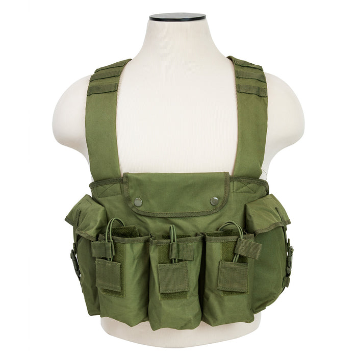 NcStar CVAKCR2921G VISM Series Fully-Adjustable Chest Rig, Green