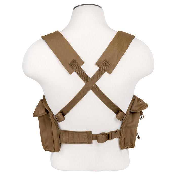 NcStar CVAKCR2921T VISM Series Fully-Adjustable Chest Rig, Tan