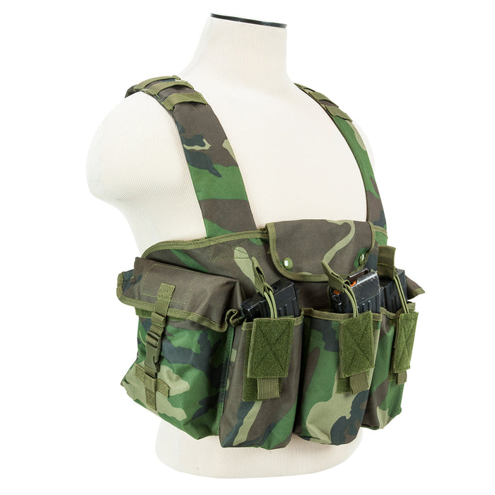 NcStar CVAKCR2921WC VISM Series Fully-Adjustable Chest Rig, Woodland Camo