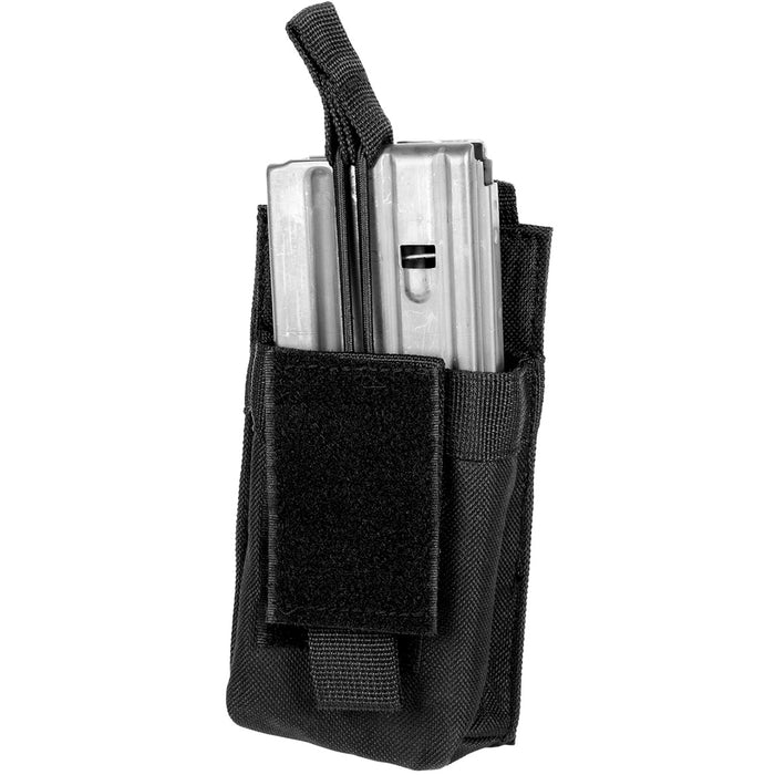 NcStar CVAR1MP2929B VISM Adjustable AR Single Magazine PALS Pouch, Black