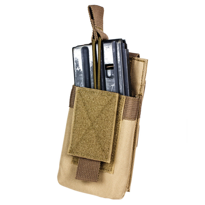 NcStar CVAR1MP2929T VISM Adjustable AR Single Magazine PALS Pouch, Tan